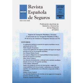 Revista Española de Seguros, Nº 181. Enero-Marzo 2020