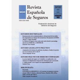 Revista Española de Seguros, Nº 182. Abril-Junio 2020
