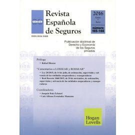 Revista Española de Seguros Nº 165-166 Enero Junio 2016