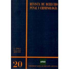 Revista de Derecho Penal y Criminología Nº 20, Julio 2018. 3ª época