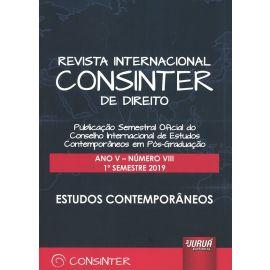 Revista internacional CONSINTER de direito Ano V Número VIII 1º semestre 2019