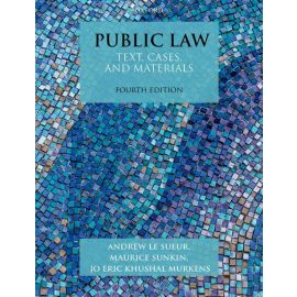 Public Law. Text, Cases, and Materials