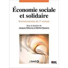 Economie Sociele et Solidaire Socioéconomie du 3º secteur