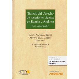 Tratado del derecho de sucesiones vigente en España y Andorra. (Con alertas fiscales)