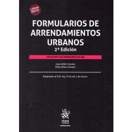 Formularios de Arrendamientos Urbanos 2019. Con acceso a Formularios On-line