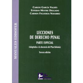 Lecciones de Derecho Penal. Parte Especial 2017 (Adaptadas a la Docencia del Plan Bolonia)
