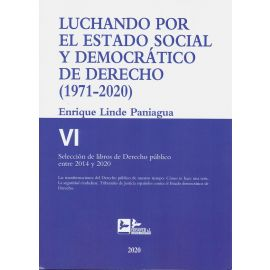 Luchando por el estado social y democrático Derecho T.VI (1971-2020) Selección de libros de Derecho Público entre 2014 y 2020
