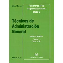 Técnicos de Administración General 2020. 3 Tomos Funcionarios de las Corporaciones Locales. Grupo A