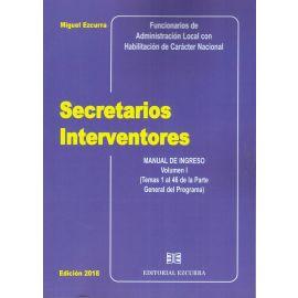 Secretarios Interventores 4 Tomos 2020