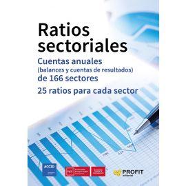 Ratios sectoriales. Cuantas anuales (balances y cuentas de resultados) de 166 sectores. 25 Ratios para cada sector