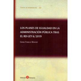 Planes de igualdad en la Administración Pública tras el RD-LEY 6/2019