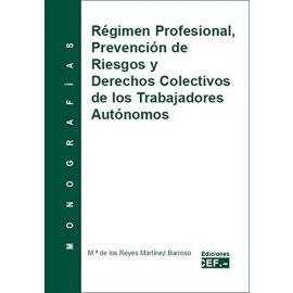 Régimen Profesional, Prevención de Riesgos y Derechos Colectivos de los Trabajadores Autónomos.