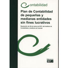 Plan de Contabilidad de Pequeñas y Medianas Entidades sin Fines Lucrativos. Resolución de 26 de Marzo de 2013, del ICAC. Contabilidad 2013