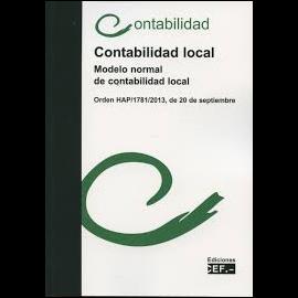 Contabilidad Local. Modelo Normal de Contabilidad Local Orden HAP/1781/2013, de 20 de Septiembre