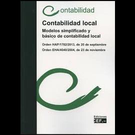 Contabilidad Local. Modelo Simplificado y Básico de Contabilidad Local. Orden HAP/1782/2013, de 20 de Septiembre. Orden EHA/4040/2004,