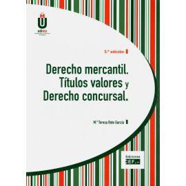 Derecho Mercantil. Títulos Valores y Derecho Concursal 2019