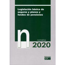 Legislación básica de seguros y planes y fondos de pensiones 2020. Normativa