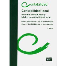 Contabilidad local. Modelos simplificado y básico de contabilidad local 2020. Orden HAP/1782/2013, de 20 de septiembre. Orden EHA/4040/2004