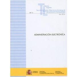 Administración Electrónica 2016 Nº 11 Separata del Boletín Oficial de los Ministerios de Hacienda y Administraciones Públi