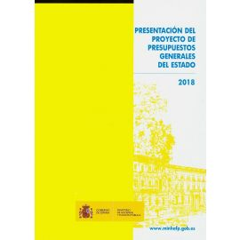 Presentación del Proyecto de Presupuestos Generales del Estado 2018