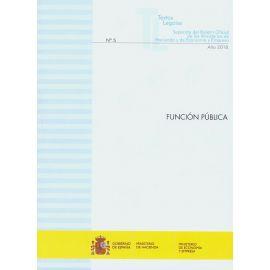 Función Pública 2018 Nº 5 Textos Legales Separata del Boletín Oficial de los Ministerios de Hacienda y de Economía y Empresa