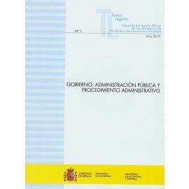 Gobierno, administración pública y procedimiento administrativo 2019. Nº 1 Separata del boletín oficial de los Ministerios de Hacienda y Economía y Empresa