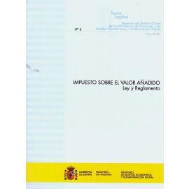 Impuesto sobre el Valor Añadido. Ley y Reglamento 2020. Nº 6 Separata del boletín oficial de los Ministerios de Hacienda y Asuntos Económicos y Transformación Digital