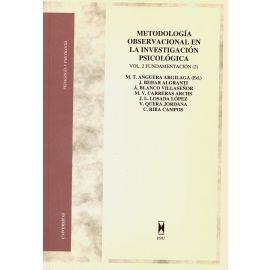 Metodología Observacional en la Investigación Psicológica. Vol. 2 Fundamentación (2)