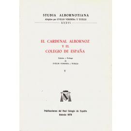 Cardenal Albornoz y Colegio España, V.