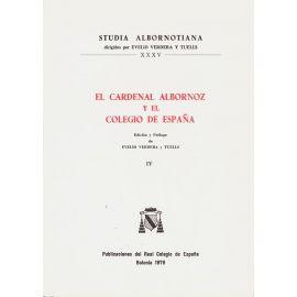 Cardenal Albornoz y Colegio España, IV.