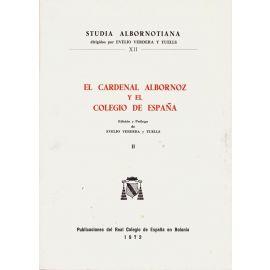 Cardenal Albornoz y Colegio España, II.