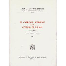 Cardenal Albornoz y Colegio España, III.