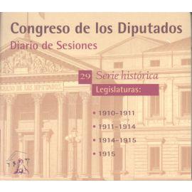 Diario de Sesiones. Legislaturas 1910-1915