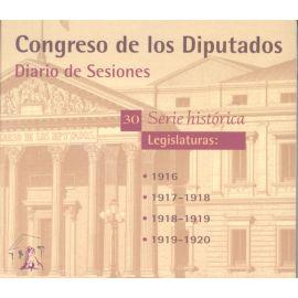 Diario de Sesiones. Legislaturas 1916-1920