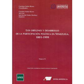 Origenes y desarrollo de la participación política en Venezuela (1801-1999) (nº VI)