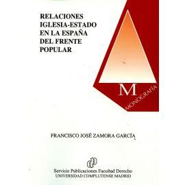 Relaciones Iglesia- Estado en la España del Frente Popular