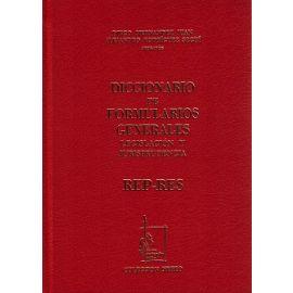 Diccionario de Formularios Generales, 61. REP-RES. Legislación y Jurisprudencia