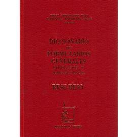 Diccionario de Formularios Generales, 62. RESE-RESO Legislación y Jurisprudencia