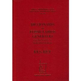 Diccionario de Formularios Generales, 65. RES-RET. Legislación y Jurisprudencia
