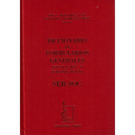 Diccionario de Formularios Generales, 71. SER-SOC.