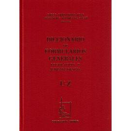 Diccionario de Formularios Generales, 77. U-Z. Legislación y Jurisprudencia.