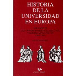 Historia de la Universidad en Europa. Vol. 3 Las universidades en el siglo XIX y primera mitad del XX (1800-1945)
