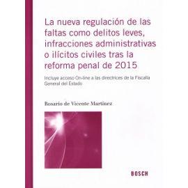 Nueva Regulación de las Faltas como Delitos Leves, Infracciones Administrativas o Ilícitos Civiles tras la Reforma Penal de 2015