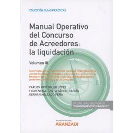 Manual Operativo del Concurso de Acreedores Vol. III. La Liquidación