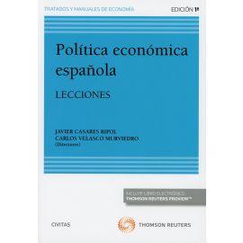Política Económica Española. Lecciones