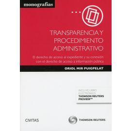 Transparencia y Procedimiento Administrativo