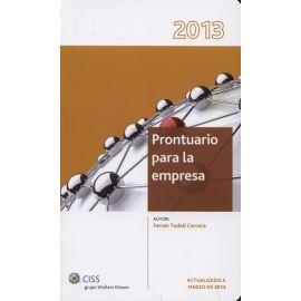 Prontuario para la Empresa 2013