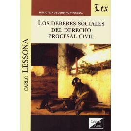Deberes Sociales del Derecho Procesal Civil