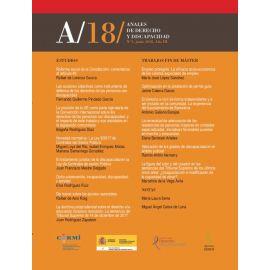 Anales de Derecho y Discapacidad Nº 3. 2018