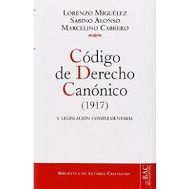 Código de Derecho Canónico (1917) y Legislación Complementaria.